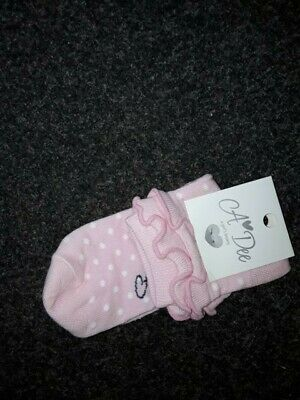 Sale A*Dee Ankle Sock Pink (S183915 Alex  Spot Sock)  Size 8-10 Years