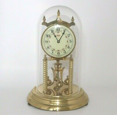 Vintage Kieninger Obergfell Kundo 400 Day Anniversary Clock Works With Dome