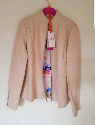 Ted Baker - Girls' light pink leather jacket. 12 Years. RRP £135. Designer