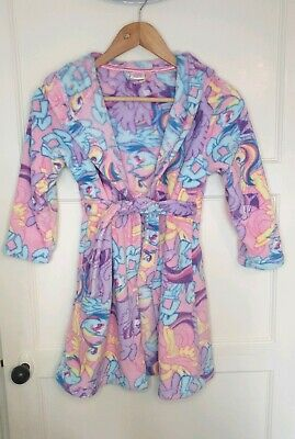 Girls Age 7-8 My Little Pony pink hooded Cosy Dressing Gown