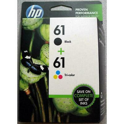 HP #61 2pack Combo Ink Cartridges 61 Black and TRICOLOR/ EX DATE 11-19r