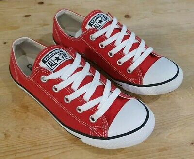 All Star Converse Red Dainty Trainers Size Uk 5 Eu 38