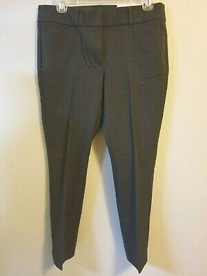 NWT NEW Loft Outlet Petites 2P Modern Skinny Ankle Pants Grey $69.99 Flat Front