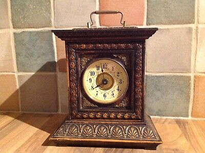 Antique c.1920/30's German JUNGHANS Wooden Bracket/Mantel Clock with Key