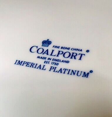 66 Piece Coalport Imperial Platinum Fine Bone China Dinner Service