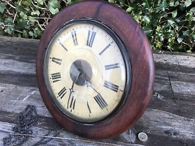"Antique Kleiser Pendulum Wall Clock, requires attention - restoration 8.5"" Face"