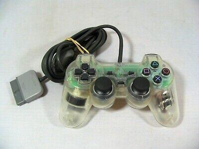Sony Playstation 1 Official Clear Analog Controller Scph-1200 **Ps1 *Tested