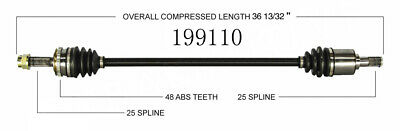 CV Axle Shaft Front Right WorldParts 199110