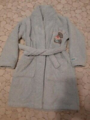 Girls M&S blue Me to You Cupcake Bear Dressing gown age 5-6 years