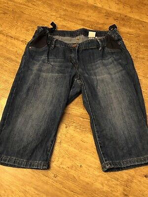 Next Adjustable Under Bump Maternity jeans, Cut Off Shorts Size 10