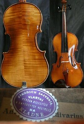 Fine 4/4 Old Antique Bohemian Violin Lab: J.Zazvonil Fiddle  小提琴  ヴァイオリン Скрипкa