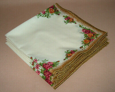 Royal Albert Old Country Roses Six Napkins, Poly Cotton