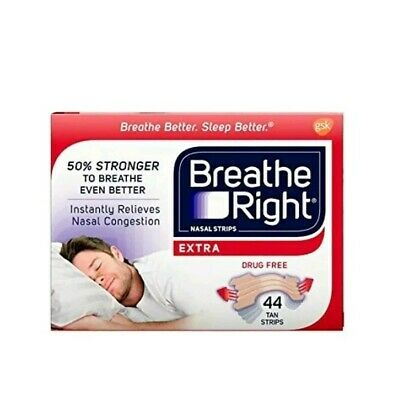 Breathe Right Extra Tan Drug-Free Nasal Strips for Nasal (44 Count (Pack of 1))
