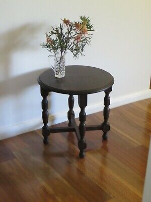 Vintage Round Oak Table