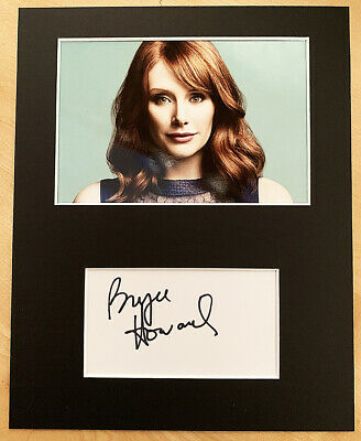 BRYCE DALLAS HOWARD HAND SIGNED Autograph Mounted With Photo GOLD Rocketman DADS