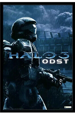 Xbox Halo ODST Video Game poster 34x22 New With Creasing See Pictures!!