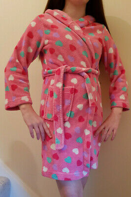 Girls, Dressing Gown, Pink with Spots, Fluffy & Cosy, 9-14y based on individuals