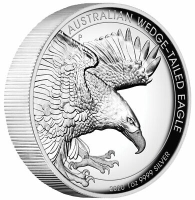 2020 Australia Wedged-Tailed Eagle 1 oz .9999 Silver HR Proof Coin W/OMP/COA