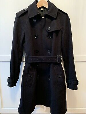 Burberry Damen Trenchcoat Mantel Schwarz Gr. 36