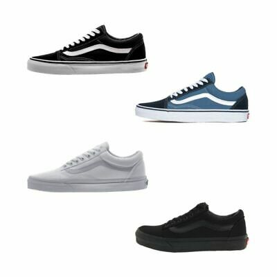VAN S Old Skool Skate Shoes Black/White All Size Classic Canvas UK3-9.5 Eu36-44