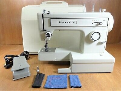 Heavy Duty KENMORE Zigzag Sewing Machine 158 Japan CANVAS LEATHER - SERVICED