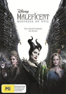 MALEFICENT:Mistress Of Evil-DVD-Region 4-New AND Sealed