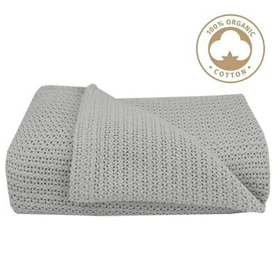 NEW Living Textiles Organic Cot Cellular Blanket from Baby Barn Discounts