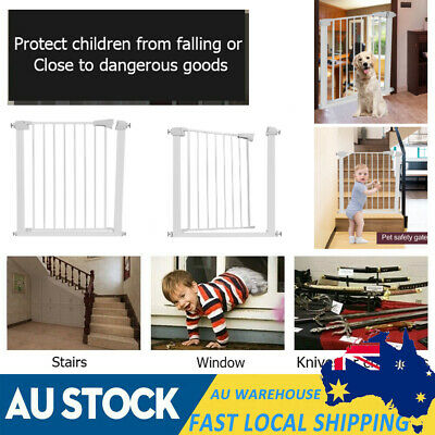 78cm Tall Adjustable Baby Kids Pet Safety Security Gate Stair Barrier Door NEW