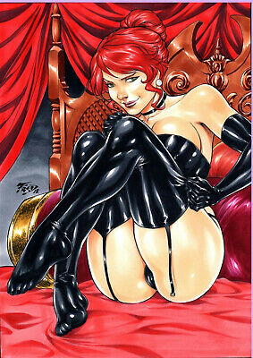 """Black Queen (09""""x12"""") by Fred Benes"""