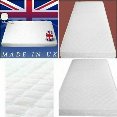 Cot Bed Baby Toddler Crib QUILTED Breathable Foam Mattress 93 X 66 X 7.5 CM