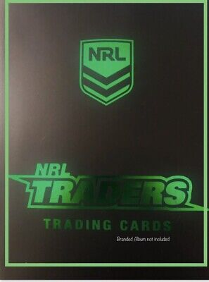 2019 NRL TRADERS FULL BASE SET - 160 COMMON CARDS In Sleeves In A Black Folder