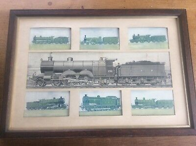 Antique GNR Great Northern Railway Picture 7 Locomotives Train Rail Memorabilia