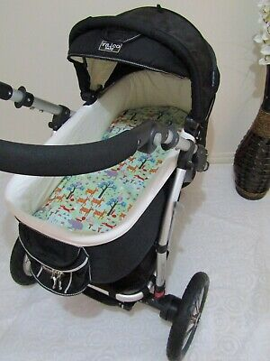 Pram bassinet liner-Friends in the forest-Fits all pram bassinets