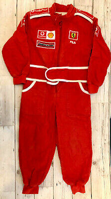 Official Fila Ferrari Formula One red jumpsuit playsuit - kids age 3 years boys