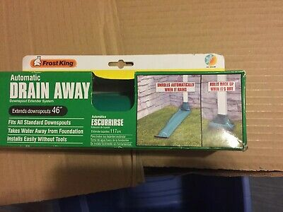 Frost King De46 Auto Drain Away 46 Roll Out Downspout Extender Green Extension