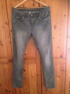 Denim Co. Primark Skinny Grey Jeans Size  16 18 Black Used Very Good Condition