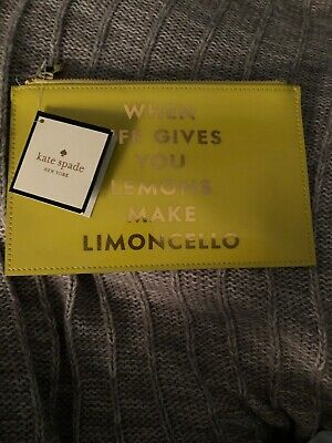 Kate Spade Limoncello Life Gives Lemons Pencil Pouch NWT
