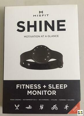 Misfit Shine Fitness & Sleep Monitor Wristband LED Activity Tracker Black