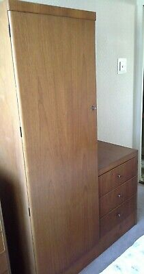 VINTAGE wardrobe with drawers Teak Style Mid-Century