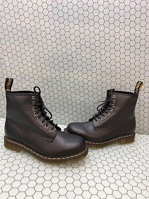 Dr. Martens 1460 Black Leather 8-Eye Lace Up Ankle Boots Men's Size 10