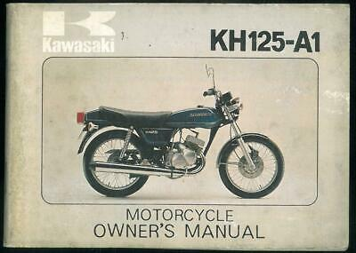 Owners Manual KAWASAKI KH 125 A1 Owner Manuel Propriétaire en Anglais 1976 -1977