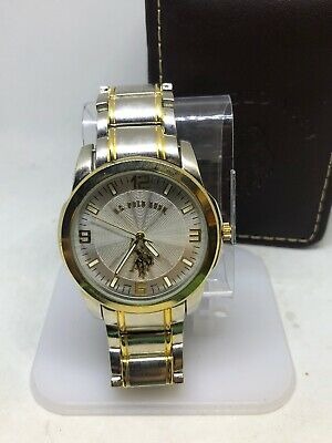 US Polo Assn Mens Usc80031 Two Tone Analog Watch #A145
