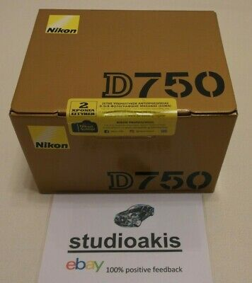 NEW & SEALED: WIFI Nikon D750 24.3 MP FULL FRAME SLR-Digitalkamera - BODY ONLY!