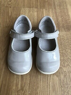 Start-rite Nancy girls shoes Grey Patent Leather infant size 6.5 G