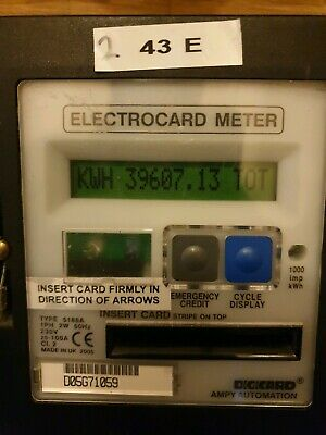 Landlord Tenant Credit Ampy Electronic electric Card Meter Sub top up