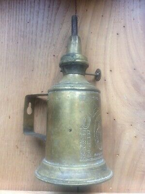Antique Vintage French Brass Pigeon Lamp Oil Petrol CLAMFOR c1900 Lampe