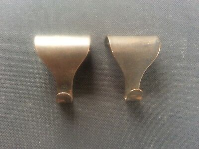 Pair 2 Vintage Edwardian Early c20th metal Picture Hooks Nice Patina