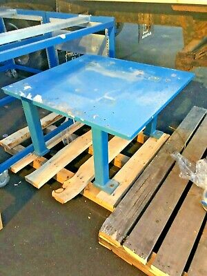 "1"" thick Steel Fab Machine Welding Layout Table Work Bench 37"" x 40"" x 22.5"""