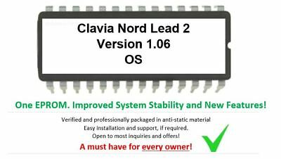 Clavia Nord Lead 2 - Ver. 1.06 Firmware Update Upgrade Eprom For Rack Teclado