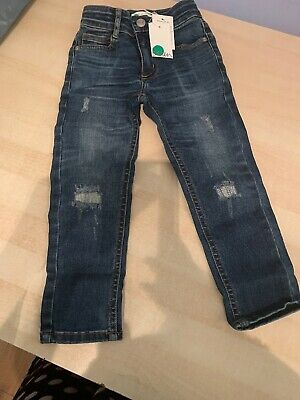 Boden Adventure-Flex Skinny Jeans - Mid Vintage Rip/Repair, Age 3, New